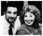 Beverly Sills and Placido Domingo